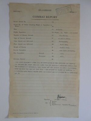 PAF RAF BATTLE OF BRITAIN  combat report  F/O Grzeszah 303 squadron 26.9.1940