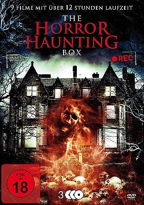 9 x Haus Horrorfilme THE HORROR HAUNTING BOX Bates AMITYVILLE House DVD Edition
