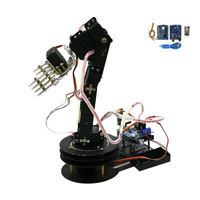 5 Axis Metal Robot Robotic Mechanical Clamp Claw Arm Kits Servo For Arduino