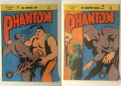 Phantom comics batch 6 -issues 857 - 899A (1986-88), good to very good condition