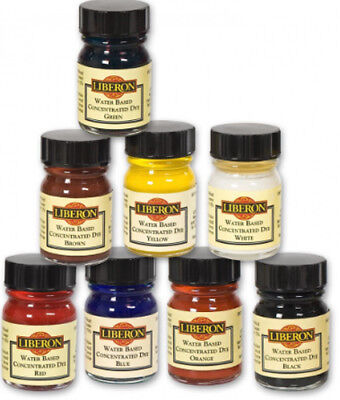 Liberon Water Based Concentrated Wood Dyes 15ml - All Eight Colours Available