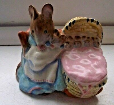 Beswick Beatrix Potter Hunca Munca Gold Stamp Excellent See Pictures