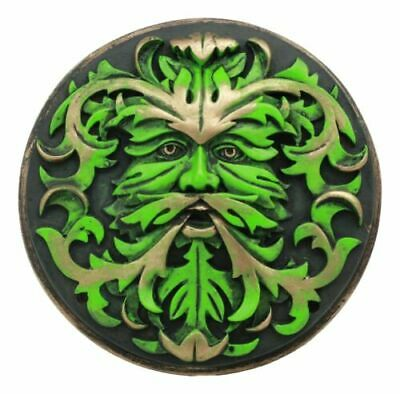 Nature's Spirit God Wiccan Celtic Greenman Wall Decor Plaque By Oberon Zell