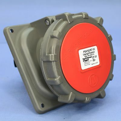P&S Pin & Sleeve Watertight Receptacle Outlet 100A 480V 3� 3P4W Ground 4100R7-W