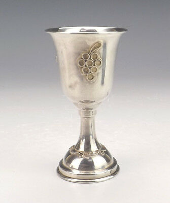 Antique Jewish Silver Kiddush Cup - Very Nice!