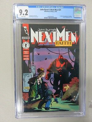 John Byrne's Next Men #21 CGC 9.2 First Appearance of Hellboy 1st Mike Mignola