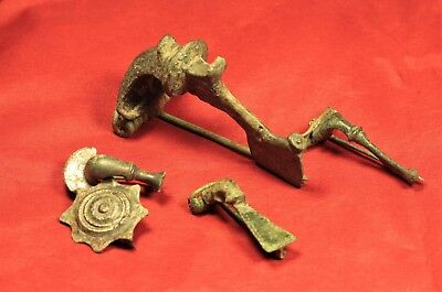 Lot of 5 Ancient Roman and Celtic Bronze Fibula or Brooch 2. Century