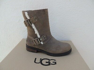6ec9945cf9f UGG NIELS STOUT Water-Resistant Leather/ Wool Lined Boots, Us 6.5 ...
