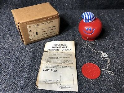 Vintage Pillsbury Funny Face Choo Choo Cherry Walker Toy w/ Box & Instructions
