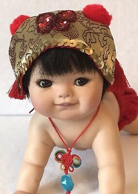 "10"" All Bisque Chubby Japanese Baby By Ping Lau #499/2,000 2007"