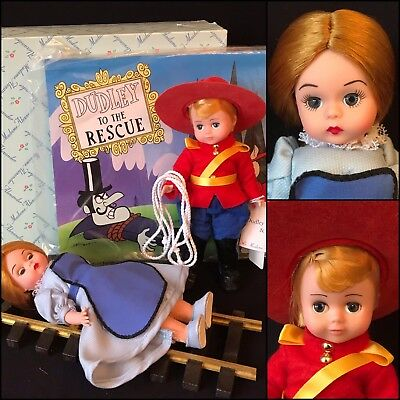 """8"""" Madame Alexander Dudley Do-Right & Little Nell, Mib, 1999"""