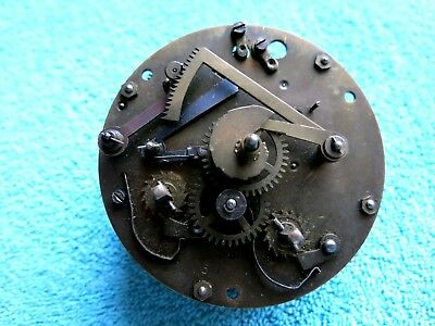 Antique Brass Mantel Clock Mechanical Movement For Restoration Free U.k Posting