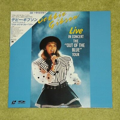 DEBBIE GIBSON Live In Concert: The Out Of The Blue Tour - JAPAN LASERDISC + OBI