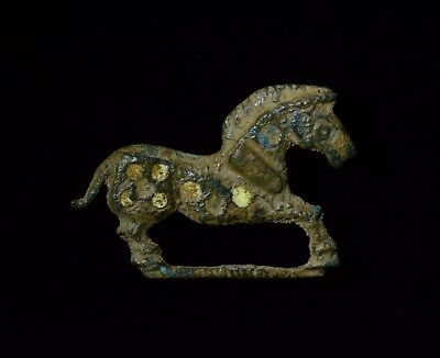 Ancient Roman Bronze Enamelled Horse Type Brooch / Fibula   - T128