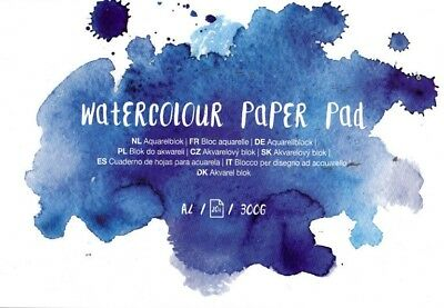 Watercoulor Paper Pad - Aquarellblock - A4 - 20 Seiten - 300g/gm2