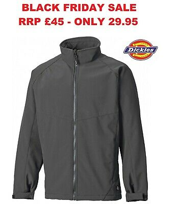Mens Dickies Softshell Fleece Water Resistant Windproof Jacket RRP £40 CLEARANCE