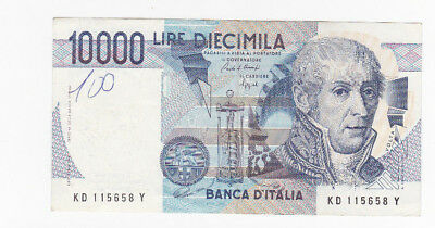 10 000 Lire Very Fine-Fine  Banknote From Italy 1984!pick-112!!!