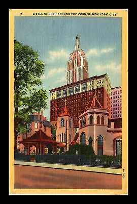 Dr Jim Stamps Us Little Church Around The Corner New York City Linen Postcard