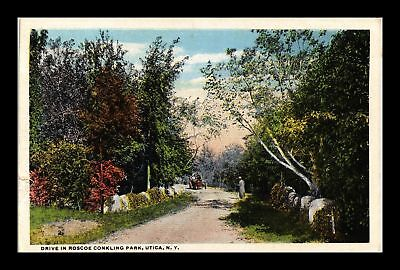 Dr Jim Stamps Us Drive Roscoe Conkling Park Utica New York View Postcard