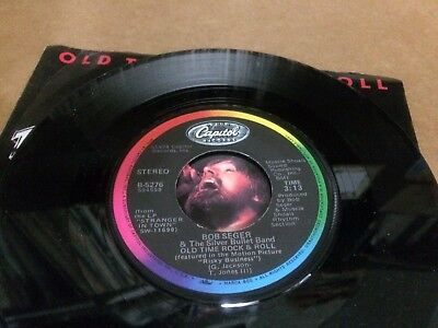 "Bob Seger Silver Bullet Band Old Time Rock And Roll V 45 7"" 1"