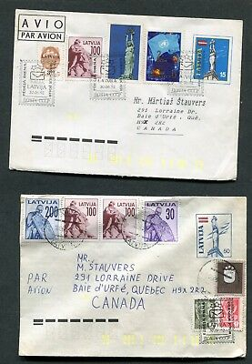 Lot Of 6 Covers From Latvia (6 Scans)