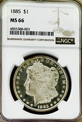 1885 P Morgan! Ngc Ms66! This Is A Flawless Gem! Easily Looks Pl! Wow! Nr #1575