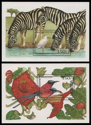 Uganda 1987 - Mi-Nr. Block 68-69 ** - MNH - Wildtiere / Wild animals