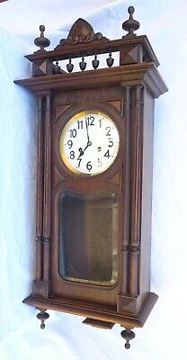 JUNGHANS WALL CLOCK 8 Days Movement Gong Germany 1900