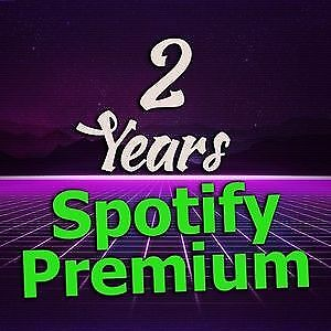 Spotify 24 months ( 2 years ) your own email