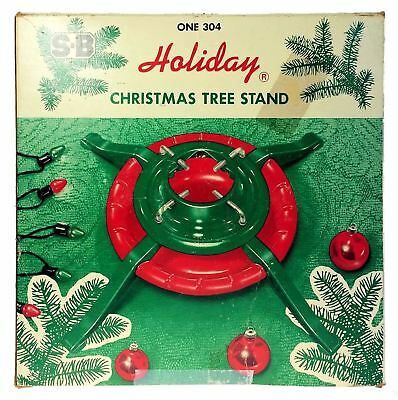 S B Manufacturing Metal Holiday Christmas Tree Stand Schulz Bros Steel 304 - Tree Stands & Skirts, Christmas Modern (1946-90), Holiday & Seasonal