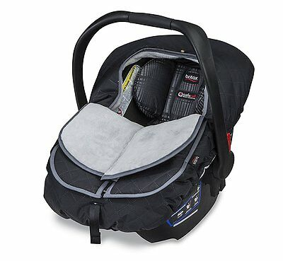 Britax B-Warm Insulated Infant Car Seat Cover In Polar Mist - New - See Details