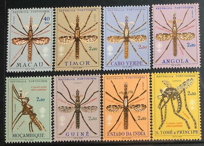 PORTUGUESE COLONIES Beautiful Mint Never Hinged Set Of 8 MALARIA UPTOWN 47271