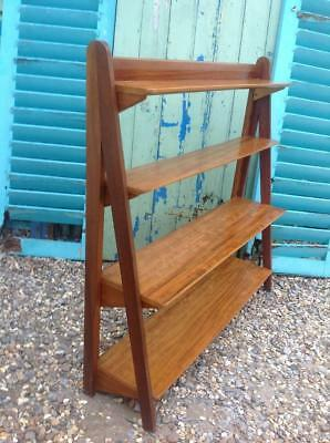 Vintage Mid Century Danish Bookcase With Compass Legs Stacking Modular Shelving