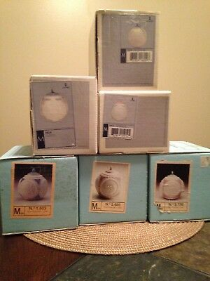 Lot of 6 Lladro Christmas Ball Ornaments (Years 1988 - 1993, inclusive)