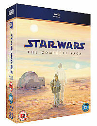 New and Sealed Star Wars 1-6 - The Complete Saga Blu-ray 2011, 9-Disc Box Set