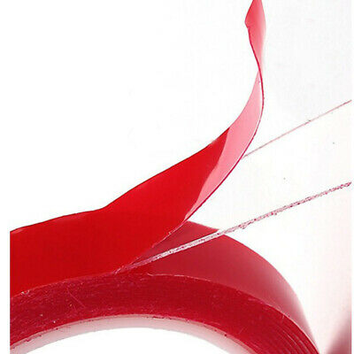8/10/12mm Width Transparent Double Sided Super Sticky Heavy Duty Adhesive Tape