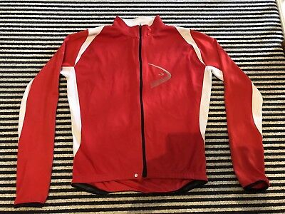 DHB LONG SLEEVE CYCLING JERSEY - Red & White SIZE LARGE