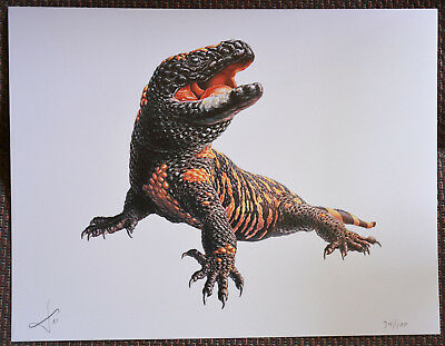 Limited Edition GILA MONSTER Print - Signed and Numbered by Artist 73/100
