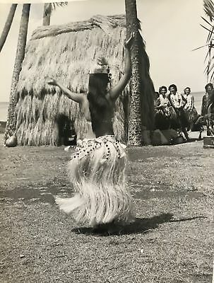 1950's Vintage Hula Girl Photograph Waikiki Hawaii