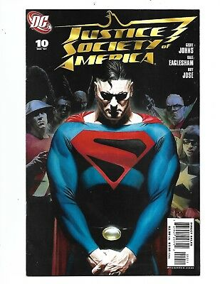 JUSTICE SOCIETY of AMERICA #10 2007 Alex Ross Variant SUPERMAN Cover VF+ 8.5