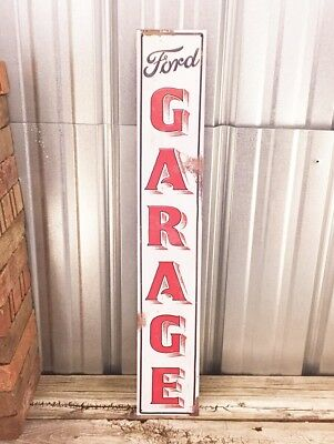 "Ford Garage Large 30"" Embossed Metal Tin Sign Car Vintage Truck Auto Garage New"
