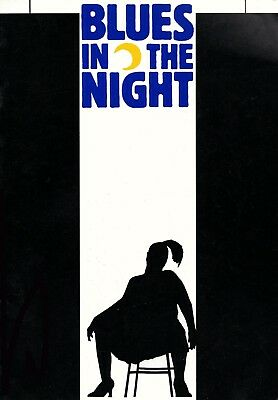 BLUES IN THE NIGHT Donmar THEATRE PROGRAMME (MARIA FRIEDMAN/CLARKE PETERS)
