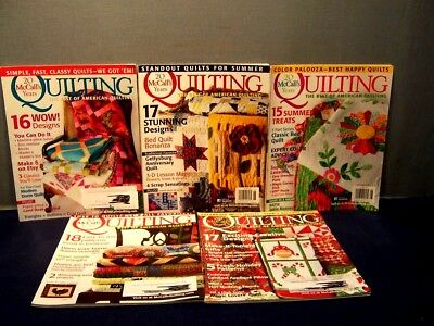 LOT of 5 McCALL'S QUILTING MAGAZINES MARCH/APRIL - NOV/DEC  2013 QUILT PATTERNS