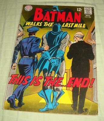 Batman # 206 1968 Silver Age 2.5 Gd+ Batman Walks The Last Mile