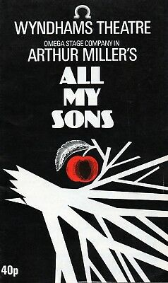 All My Sons (Wyndhams Theatre) 1982 Programme - Colin Blakely - Rosemary Harris