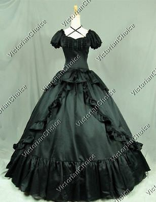 Victorian Gothic Evening Ball Gown Dress Theatrical Steampunk Clothing 206 M