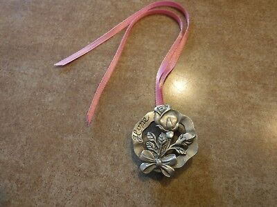 Longaberger Tie on / Pin Horizon of Hope  Pewter Rose 2004