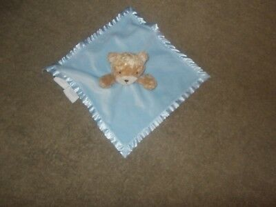 blue brown  baby security lovely blanket  lovey
