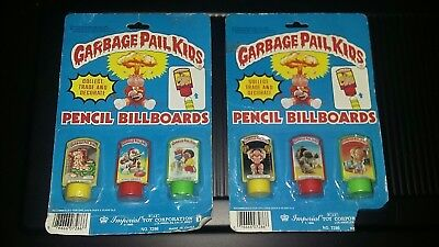 Rare Lot of 2 1986 Garbage Pail Kids Pencil Toppers Billboards!