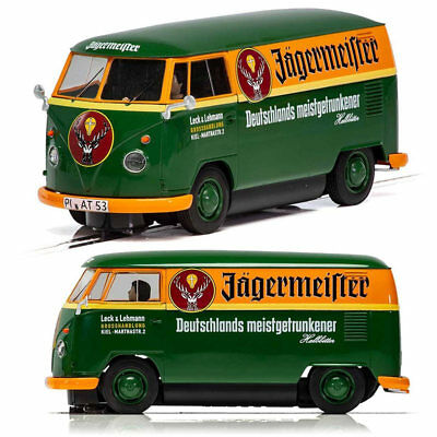 SCALEXTRIC Slot Car C3938 Volkswagen Panel Van Jagermeister T1B - Green